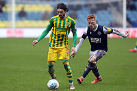 Filip Krovinovic of West Bromwich Albion and Ryan Woods of Millwall during Millwall vs West Bromwich Albion, Sky Bet EFL Championship Football at The Den on 9th February 2020