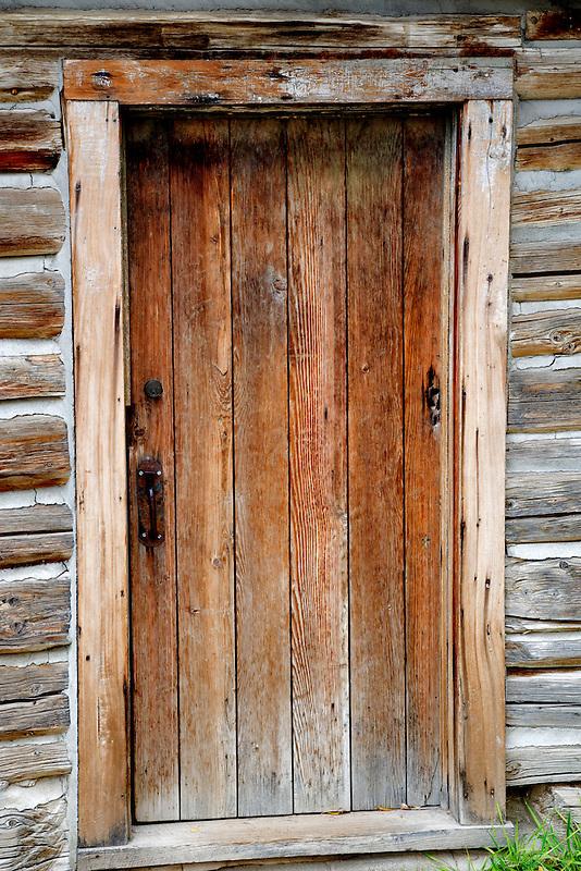 Door entry into historic old house. Nevada City, Montana