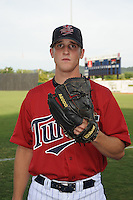 Ben Tootle Pitcher Elizabethton Twins (Minnesota Twins) poses at Joe O'Brien Stadium August 17, 2009 in Elizabethton, TN (Photo by Tony Farlow/Four Seam Images)