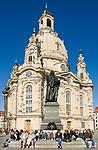 Deutschland, Freistaat Sachsen, Dresden: Frauenkirche am Neumarkt, Martin Luther Denkmal | Germany, the Free State of Saxony, Dresden: church of our lady at Neumarkt square, Martin Luther monument