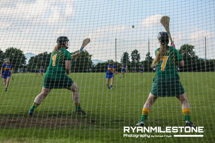 Tipperary's Cait Devane scores a penalty during the Liberty Insurance All Ireland Senior Camogie Championship Round 1 between Tipperary and Meath at the Ragg, Co Tipperary. Photo By Michael P Ryan.