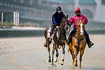 September 3, 2020: Donna Veloce exercises as horses prepare for the 2020 Kentucky Derby and Kentucky Oaks at Churchill Downs in Louisville, Kentucky. The race is being run without fans due to the coronavirus pandemic that has gripped the world and nation for much of the year. Scott Serio/Eclipse Sportswire/CSM