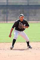 Eduardo Escobar, Chicago White Sox minor league spring training..Photo by:  Bill Mitchell/Four Seam Images.