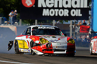 #80 Synergy Porsche limps back to the pits with contact damage.