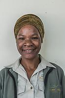 Africa, Botswana, Khwai, The Lodge, Feline Fields, women employee.