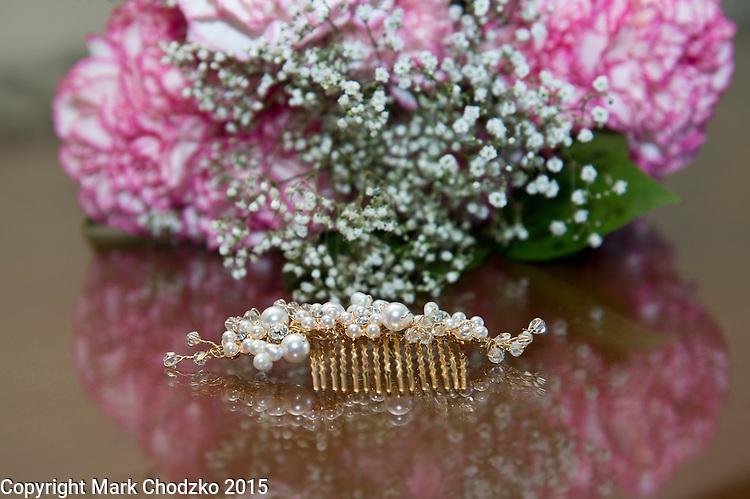 Bride's hair clip.