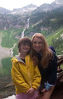 Eliza and Olivia at Rainy Lake, North Cascades National Park, Washington, US