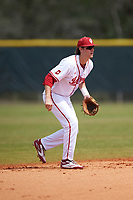 Indiana Hoosiers shortstop Brian Whilhite (11) during a game against the Seton Hall Pirates on March 5, 2016 at North Charlotte Regional Park in Port Charlotte, Florida.  Seton Hall defeated Indiana 6-4.  (Mike Janes/Four Seam Images)