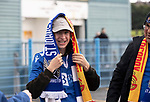 St Johnstone v Galatasaray…12.08.21  McDiarmid Park Europa League Qualifier<br />Saints fans arrive at the ground ahead of tonight's game<br />Picture by Graeme Hart.<br />Copyright Perthshire Picture Agency<br />Tel: 01738 623350  Mobile: 07990 594431