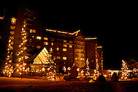 Whistler Resort, BC, British Columbia, Canada - Christmas Lights at Fairmont Chateau Whistler
