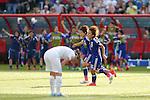 (L-R) Aya Miyama, Mana Iwabuchi (JPN), JULY 1, 2015 - Football / Soccer : Japan team celebrates after scoring team's 2nd goal during the FIFA Women's World Cup Canada 2015 Semi-final match between Japan and England at Commonwealth Stadium in Edmonton, Canada. (Photo by Yusuke Nakanishi/AFLO SPORT)