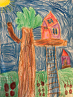 """Treehouse' by Reese Goslin, Grade K, Yarmouth, ME, USA"