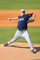 Starting pitcher David Francis #46 of the Rome Braves in action versus the Kannapolis Intimidators at Fieldcrest Cannon Stadium July 26, 2009 in Kannapolis, North Carolina. (Photo by Brian Westerholt / Four Seam Images)