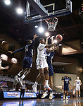 SIOUX FALLS, SD - MARCH 8: Douglas Wilson #35 of the South Dakota State Jackrabbits gets a layup against Oral Roberts during the Summit League Basketball Tournament at the Sanford Pentagon in Sioux Falls, SD. (Photo by Richard Carlson/Inertia)