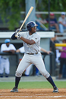 Nic Wilson (44) of the Princeton Rays at bat against the Burlington Royals at Burlington Athletic Park on July 11, 2014 in Burlington, North Carolina.  The Rays defeated the Royals 5-3.  (Brian Westerholt/Four Seam Images)