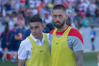 Carson, CA - Sunday, February 8, 2015 Clint Dempsey (8) and Miguel Ibarra (19) of the USMNT. The USMNT defeated Panama 2-0 during an international friendly at the StubHub Center