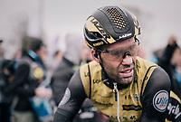 Maarten Wynants' (BEL/LottoNL-Jumbo) post-race face<br /> <br /> 73rd Dwars Door Vlaanderen 2018 (1.UWT)<br /> Roeselare - Waregem (BEL): 180km