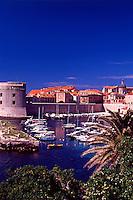 Croatia. Dubrovnik Old City.  Old Port and St John Fort