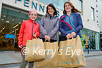 The O'Donoghue family from Castleisland after enjoying their shopping in Penny's on Monday., l to r: Abbie, Triona and Chloe O'Donoghue.