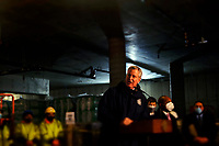 NEW YORK, NEW YORK- FEBRUARY 22, 2021: New York City Mayor Bill De Blasio delivers remarks at topping off ceremony for a 100 percent affordable housing project in the downtown section of Far Rockaway, Queens on February 22, 2021 in New York City.   Photo Credit: mpi43/MediaPunch