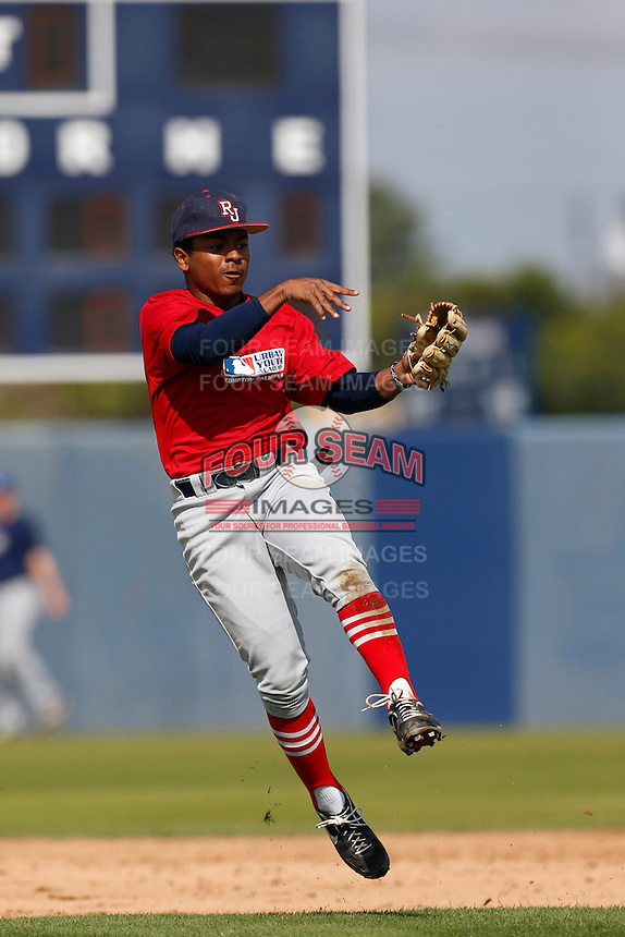 Julian Harrison of Redondo Union High School in Redondo Beach, California participates in the Southern California scouts game for high school seniors at the Urban Youth Academy on February 9, 2013 in Compton, California. (Larry Goren/Four Seam Images)