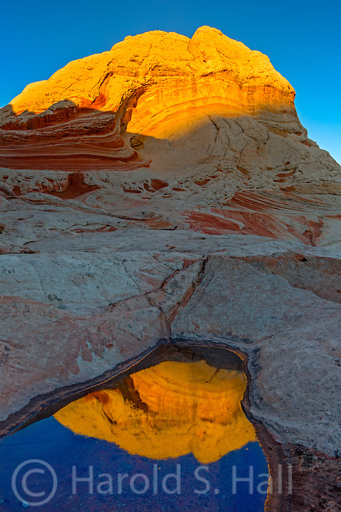White Pocket is a remote and difficult to get to area near the better known Coyote Buttes Wave area.  It is a small outcropping of very unusual rock formations.