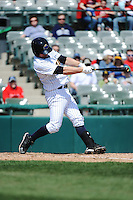 Trenton Thunder catcher J.R. Murphy (15) during game against the Richmond Flying Squirrels at ARM & HAMMER Park on April 14 2013 in Trenton, NJ.  Trenton defeated Richmond 15-1.  (Tomasso DeRosa/Four Seam Images)