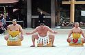 New year sumo ceremony at Meiji Shrine