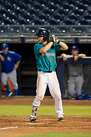 AZL Mariners third baseman Connor Hoover (4) at bat against the AZL Royals on July 29, 2017 at Peoria Stadium in Peoria, Arizona. AZL Royals defeated the AZL Mariners 11-4. (Zachary Lucy/Four Seam Images)