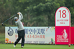 Felicity Johnson of England tees off at the 18th hole during Round 2 of the World Ladies Championship 2016 on 12 March 2016 at Mission Hills Olazabal Golf Course in Dongguan, China. Photo by Victor Fraile / Power Sport Images