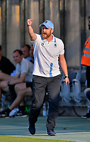 19.08.2018, Football DFB Pokal 2018/2019, 1. round, Tsv 1860 Muenchen - Holstein Kiel, Gruenwalderstadium Muenchen. Trainer Daniel Bierofka (TSV 1860 Muenchen) .<br /><br /><br />***DFB rules prohibit use in MMS Services via handheld devices until two hours after a match and any usage on internet or online media simulating video foodaye during the match.*** *** Local Caption *** © pixathlon<br /> <br /> Contact: +49-40-22 63 02 60 , info@pixathlon.de