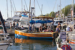 Race to Alaska, human powered, wind powered, all class, boat race, Port Townsend to Ketchikan, second leg, racers prepare at dock, Inner Harbor, Victoria, British Columbia, for Ketchikan, Alaska, long distance boat racing,