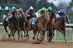January 23, 2021: Getridofwhatailesu (3) with jockey Joseph Rocco, Jr. aboard before winning the Pippin Stakes at Oaklawn Racing Casino Resort in Hot Springs, Arkansas. ©Justin Manning/Eclipse Sportswire/CSM
