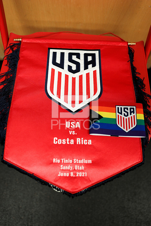 SANDY, UT - JUNE 10: USA, Costa Rica during a game between Costa Rica and USMNT at Rio Tinto Stadium on June 10, 2021 in Sandy, Utah.