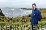 Mike Flahive standing near the Bromore Cliffs in Ballybunion which have being damaged by the last few storms on Tuesday