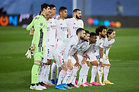 April 27th 2021; Alfredo Di Stefano Stadium, Madrid, Spain;  Real Madrid team group during the Champions League match, semifinals between Real Madrid and Chelsea FC played at Alfredo Di Stefano Stadium