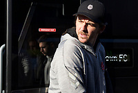 Joey Barton Manager of Fleetwood Town arriving before the Sky Bet League 1 match between AFC Wimbledon and Fleetwood Town at the Cherry Red Records Stadium, Kingston, England on 8 February 2020. Photo by Alan  Stanford / PRiME Media Images.