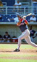 Boston Red Sox Carlos Quintana (18) during Spring Training 1993 at City of Palms Park in Fort Myers, Florida.  (MJA/Four Seam Images)