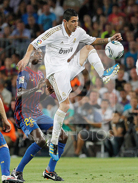 Real Madrid's Angel Di Maria during Spanish Supercup 2nd match.August 17,2011. (ALTERPHOTOS/Acero)
