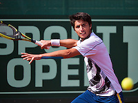 10-07-13, Netherlands, Scheveningen,  Mets, Tennis, Sport1 Open, day three, Paul Capdeville (CHI)<br /> <br /> <br /> Photo: Henk Koster