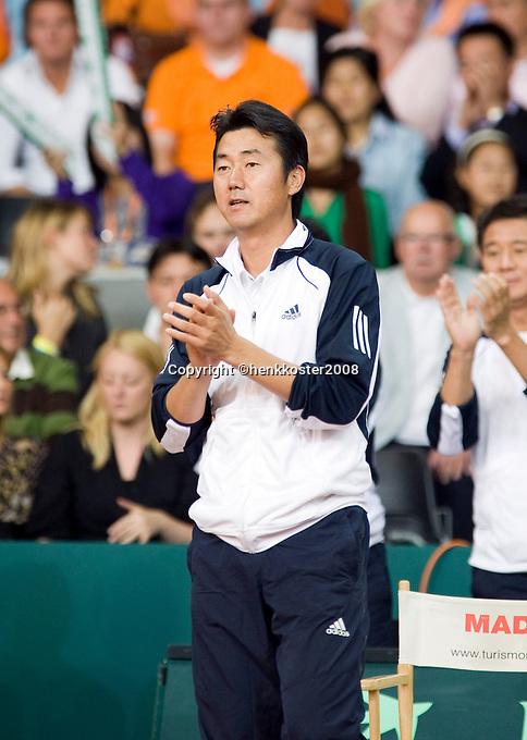 21-9-08, Netherlands, Apeldoorn, Tennis, Daviscup NL-Zuid Korea, :  Korean captain NamHoon Kim