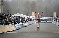 victory for Joris Nieuwenhuis (NED/U23) in the U23 race<br /> <br /> 2016 CX UCI World Cup Zeven (DEU)