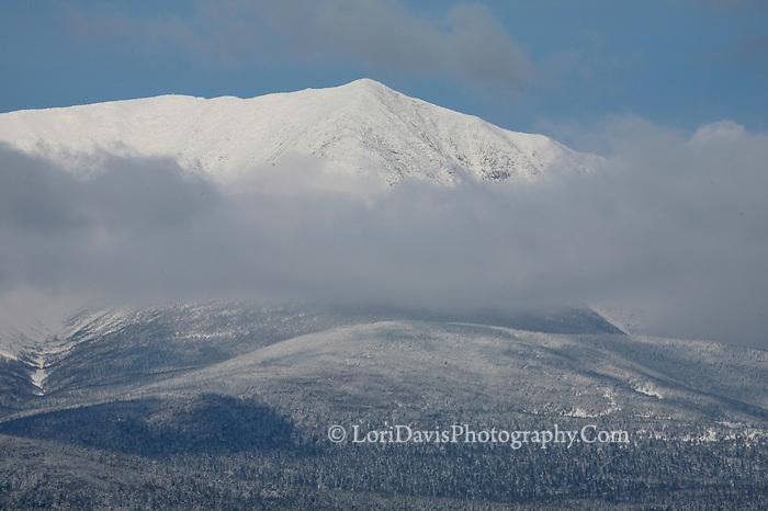 Mt.Katahdin covered in snow