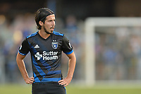 San Jose, CA - Monday July 10, 2017: Jahmir Hyka during a U.S. Open Cup quarterfinal match between the San Jose Earthquakes and the Los Angeles Galaxy at Avaya Stadium.