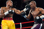 """Ike """"Bazooka"""" Quartey (l)  lands flush on Vernon Forest during their 10 rounds Junior Middleweight Fight at MSG in New York City on 08.05.06. Forest won by Unanimous Decision."""