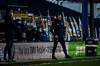 9th January 2021; Kenilworth Road, Luton, Bedfordshire, England; English FA Cup Football, Luton Town versus Reading; Luton Town manager Nathan Jones watches his players closely