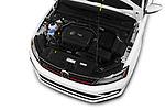 Car Stock 2017 Volkswagen Jetta GLI 4 Door Sedan Engine  high angle detail view