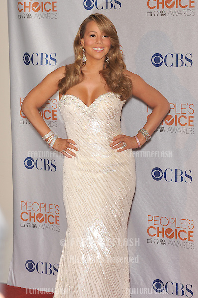 Mariah Carey at the 2010 People's Choice Awards at the Nokia Theatre L.A. Live in Los Angeles..January 6, 2010  Los Angeles, CA.Picture: Paul Smith / Featureflash