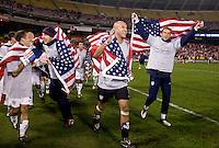 Steve Cherundolo, Brad Guzan, Jonathan Bornstein, Tim Howard, Michael Bradley, Jimmy Conrad. The USMNT tied Costa Rica, 2-2, during the FIFA World Cup Qualifier at  RFK Stadium, in Washington, DC.   With the result, the USMNT qualified for the 2010 FIFA World Cup Finals in South Africa.