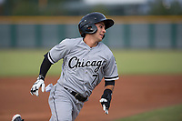 AZL White Sox first round draft pick and designated hitter Nick Madrigal (7) rounds third base before scoring his first run as a professional during an Arizona League game against the AZL Cubs 2 at Sloan Park on July 13, 2018 in Mesa, Arizona. The AZL Cubs 2 defeated the AZL White Sox 6-4. (Zachary Lucy/Four Seam Images)